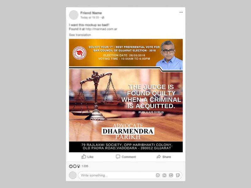 Advocate Dharmendra Parikh
